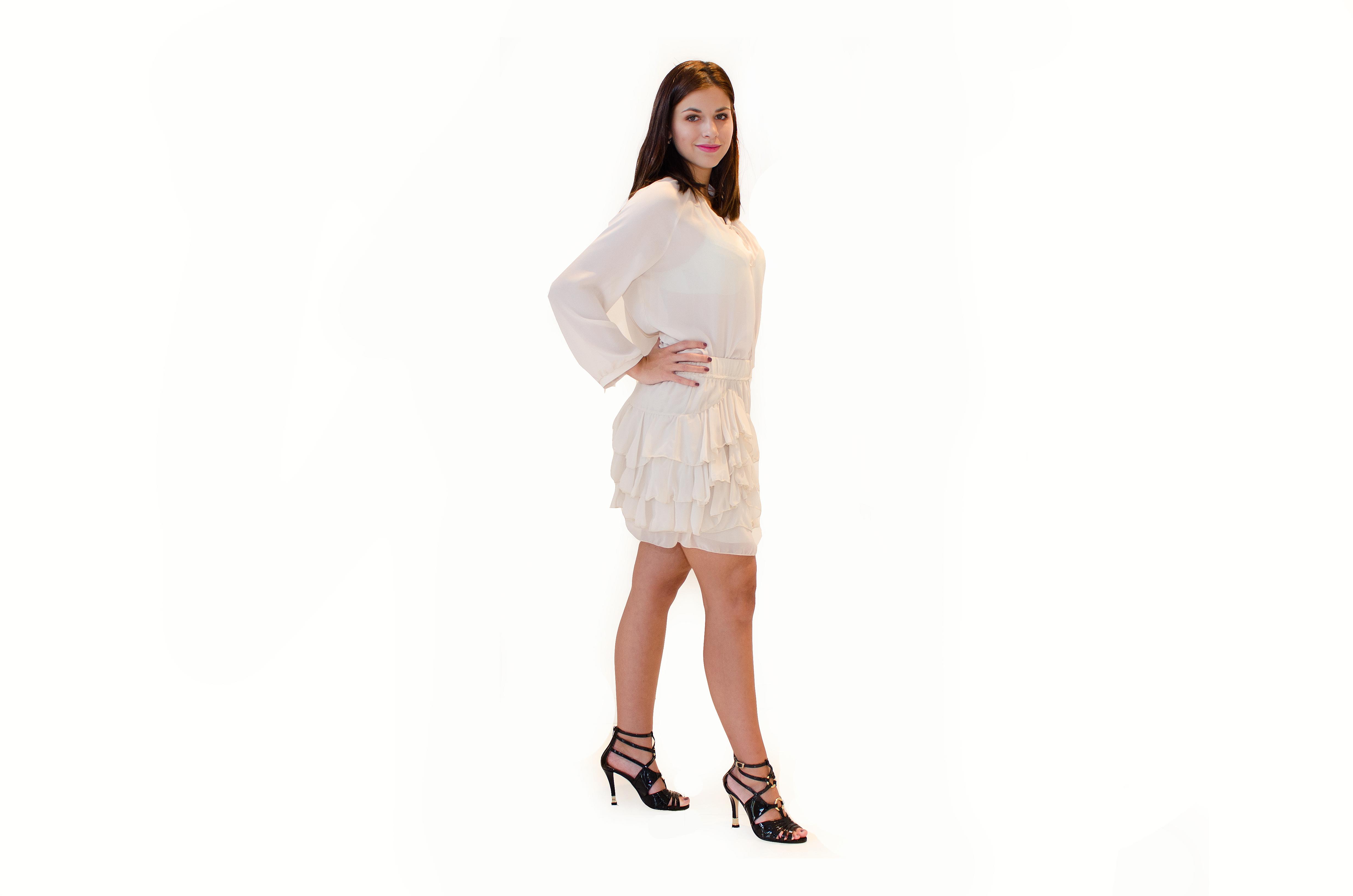 produkt_Volánková sukně z hedvábí